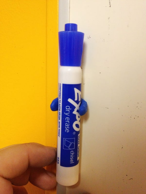 Sugru Whiteboard Marker Holder