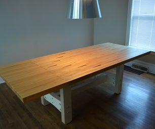 Reclaimed Bowling Lane Table