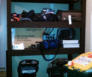 Modular Storage Shelves With Stroller Parking
