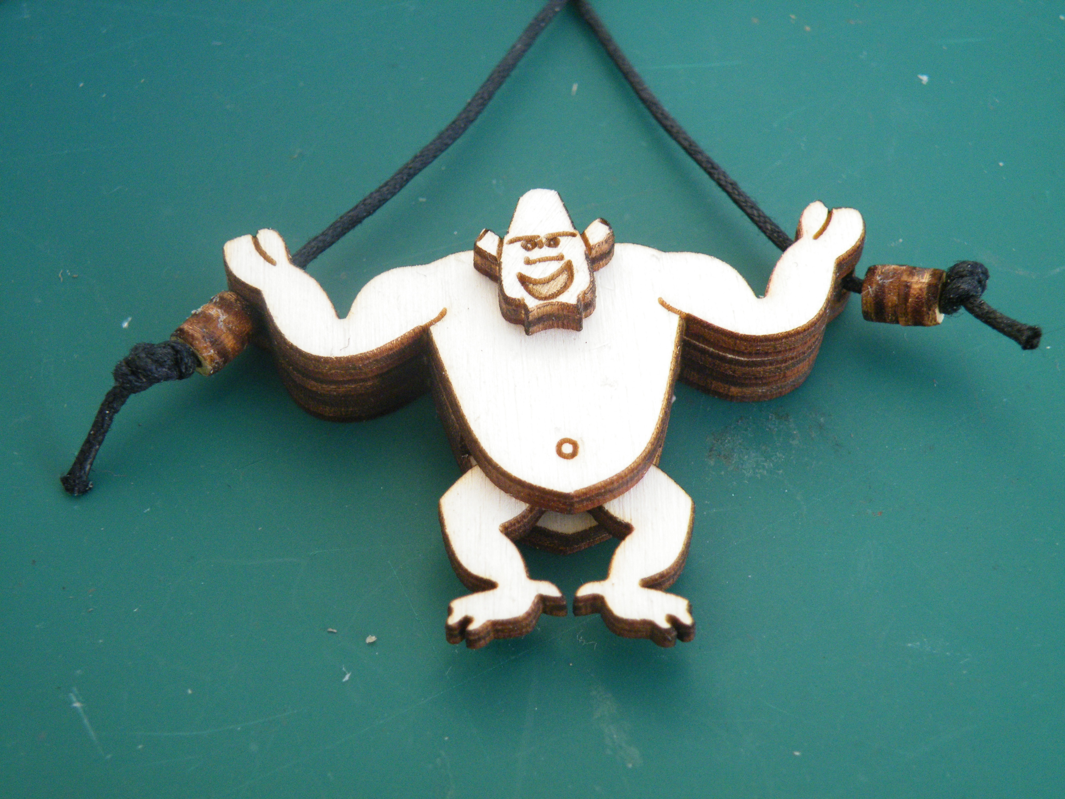 Picture of Climbing Gorilla Necklace