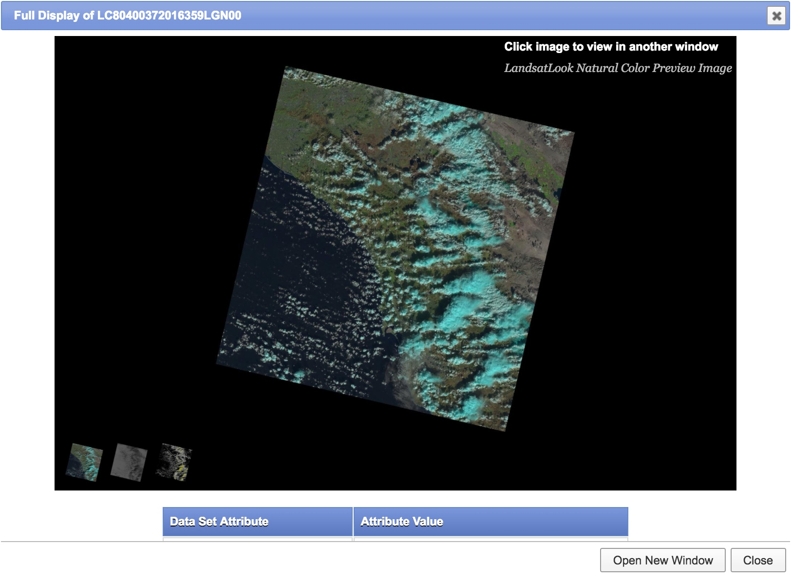 Picture of Image Location and Downloading Data