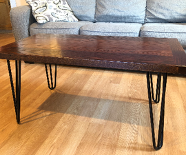 100+ Year Old Red Oak Coffee Table