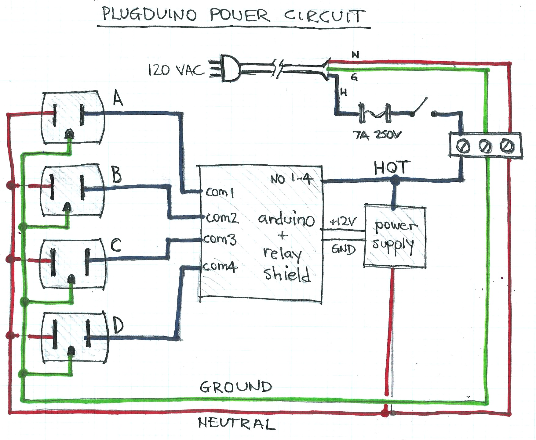 Picture of Power Circuit Schematic