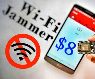 Make WiFi Jammer With ESP8266 - Hack Any WiFi Without Password!