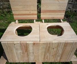 Do-It-Yourself Dry Toilet Part 2. Take your seats please! Toilettes seches. Fabricacion de sanitario seco