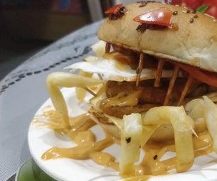 Cheese Spider Burger