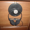 Headphone Hanger From CD/DVD Spindle