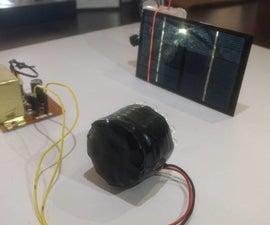 DIY Wireless Transmission Using IR LED and Solar Panel.