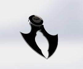 Handy Foldable Batarang-arkham- 3D model