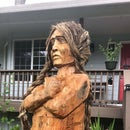 Carving a (Bigger Than) Life Size Cigar Store Person From a Cedar Log