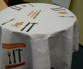 High table with textures