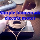 Simple homemade electric motor