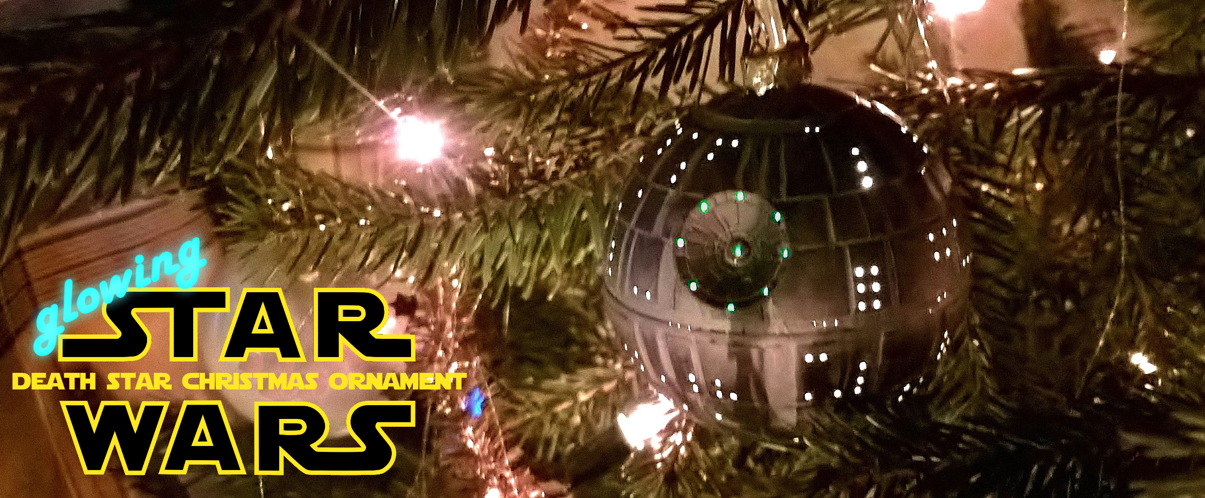 Picture of Glowing Death Star Christmas Ornament