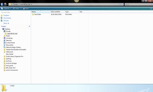 Creating a Hidden Folder