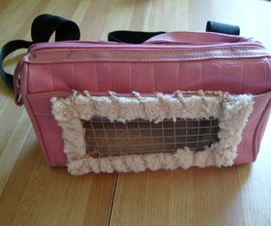 DIY Recycled Small Pet Carrier Backpack