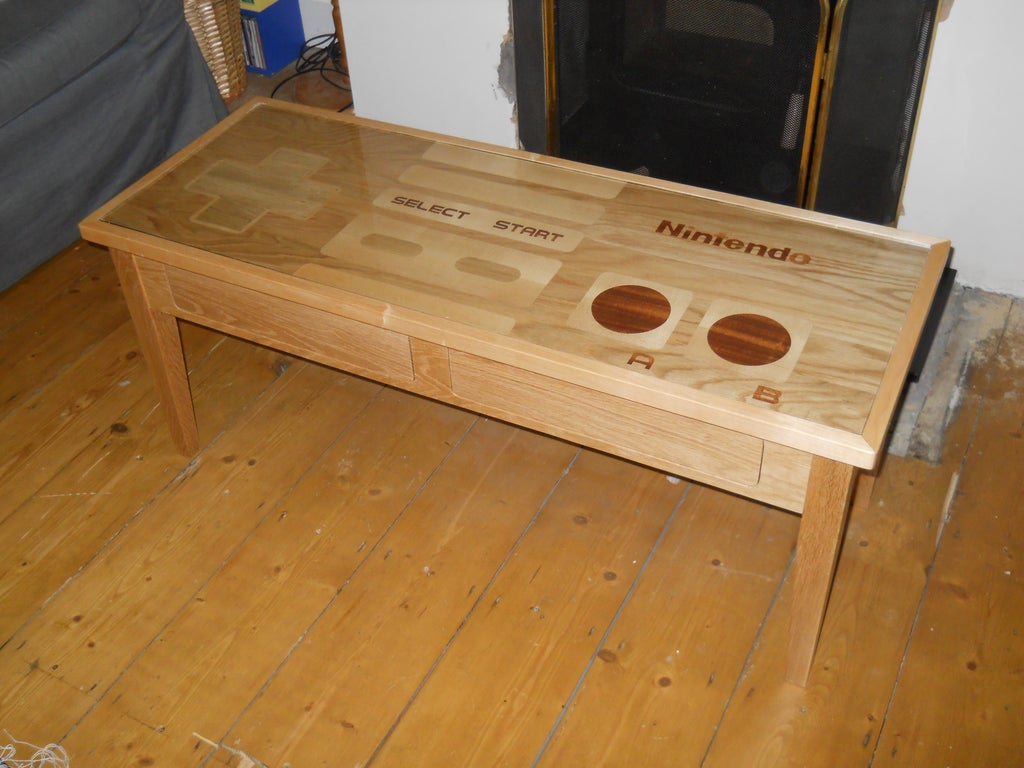 Controller Coffee Table.Nes Controller Coffee Table 16 Steps With Pictures