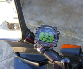 Motorcycle Mirror Mounted Watch