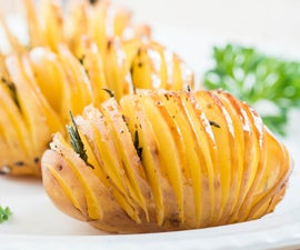 Garlic - Thyme Hasselback Potatoes