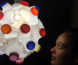 HDPE upcycling lamp (noni)