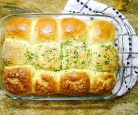 Super Fluffy Bread Rolls 3 Ways: Plain, Garlic & Pretzel!