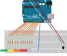 Arduino temperature led bar