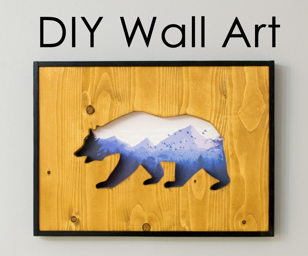 DIY Wall Art: How to Make a Cut-out Into Reclaimed Wood With a ...