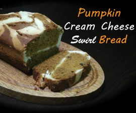 Healthy Pumpkin Cream Cheese Swirl Bread