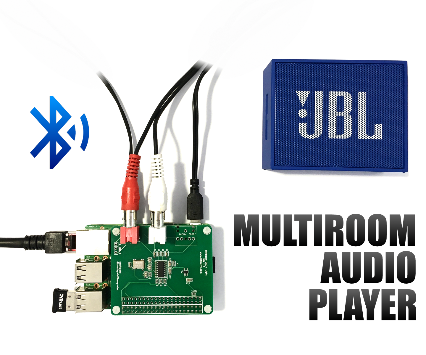 3 Audio Players in 1 Raspberry Pi With Bluetooth - Easy Multiroom HiFi Setup