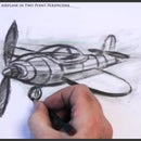How to Draw a Cartoon Plane in Two Point Perspective