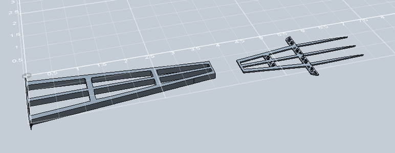 Turn Vector Into 3D Model of Fork