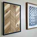 Cedar Chevron Wood Wall Art