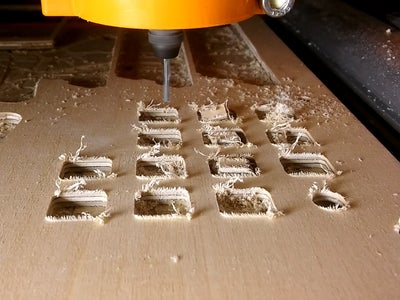 Cutout the Parts With the CNC Router