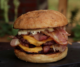 How to Cook a Double Bacon Burger
