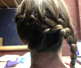 French braid into side braid