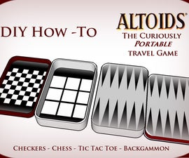Altoids Tin Travel Games - Pocket Size Fun