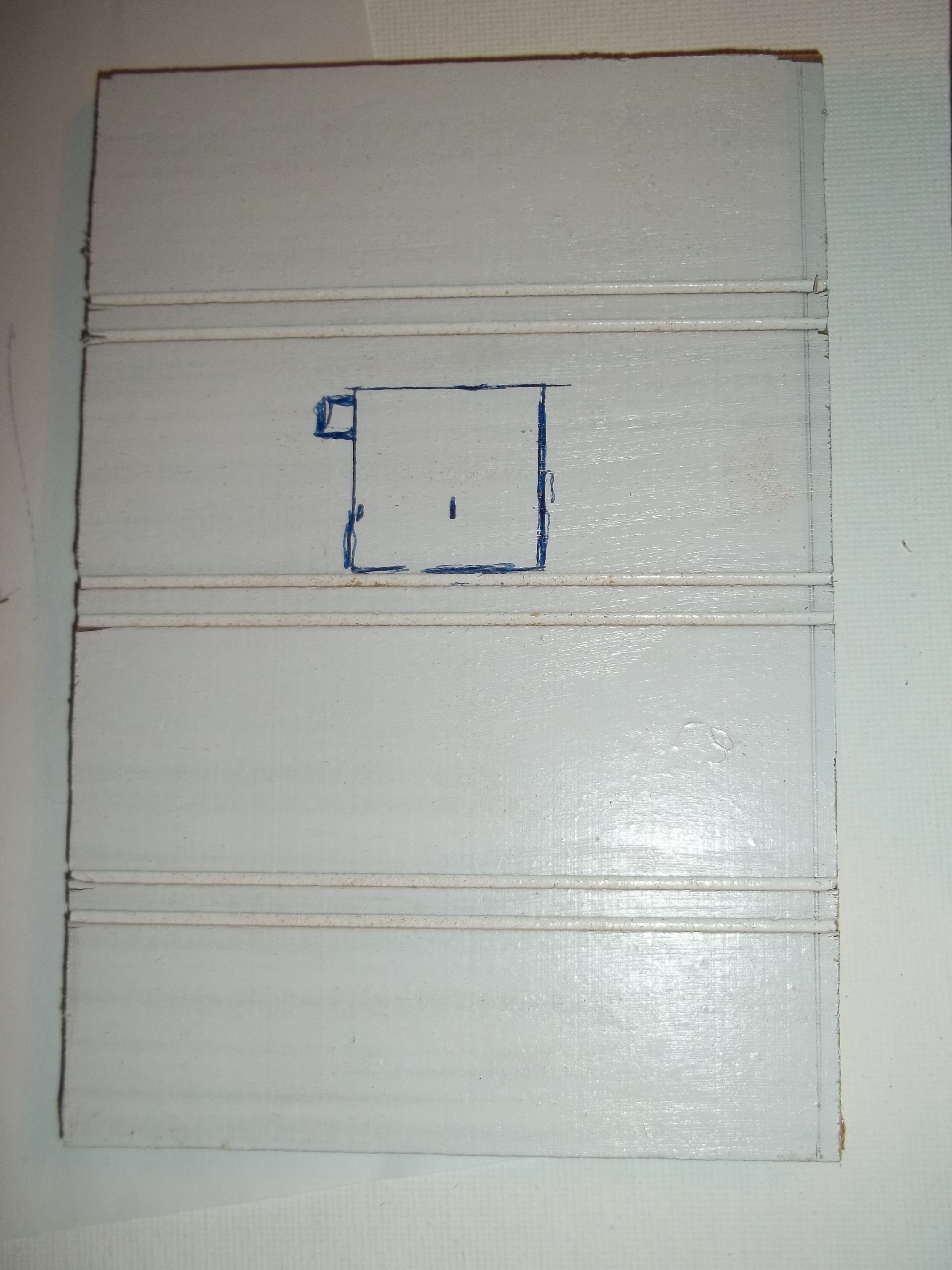 Picture of Further Box Preparation: PIR Sensor Slot and Front Piece
