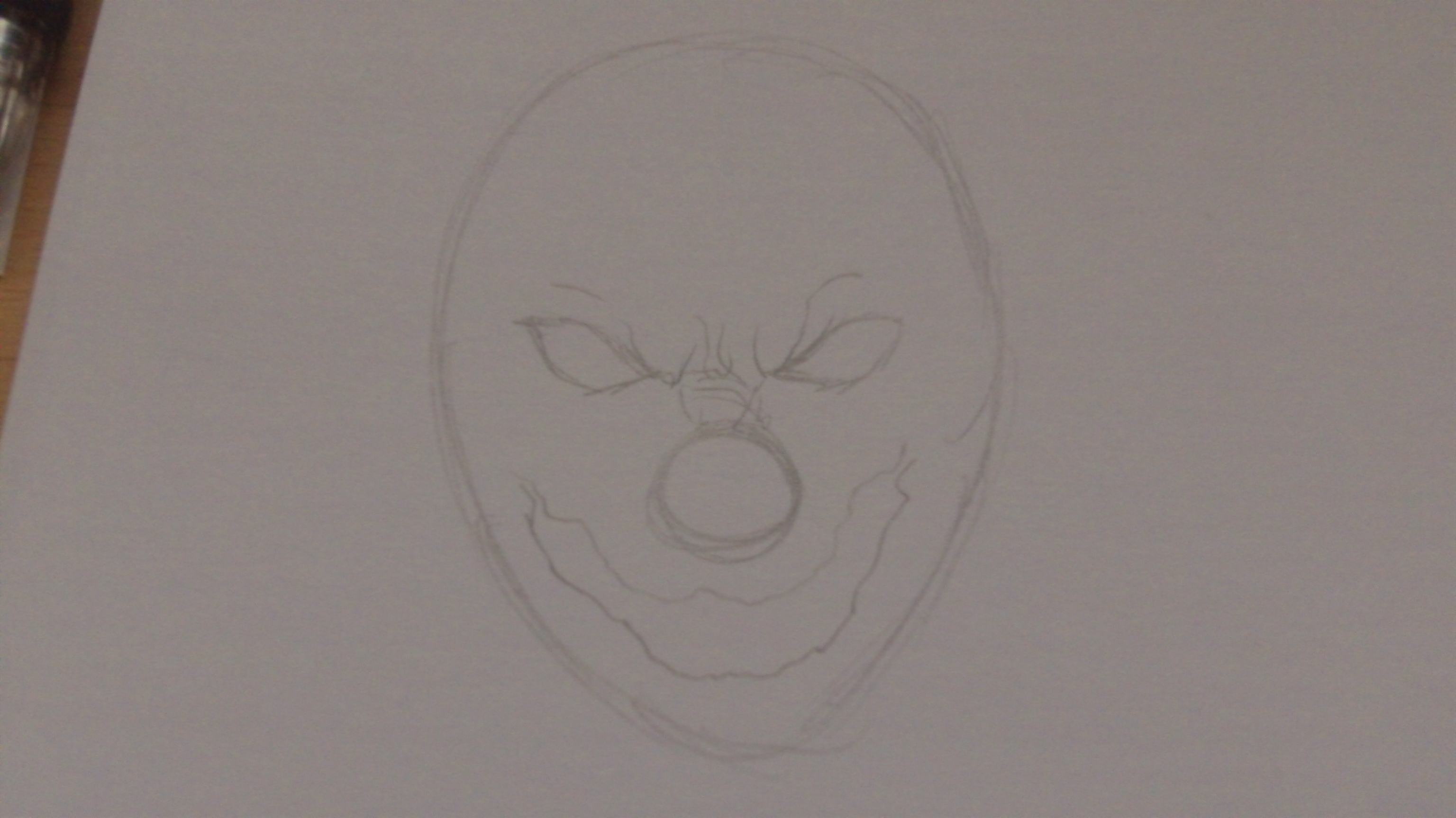 Picture of How to Draw a Killer Klown Face