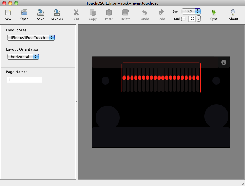 Picture of Create the TouchOSC Interface