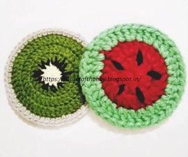 Kiwi and Watermelon Coasters