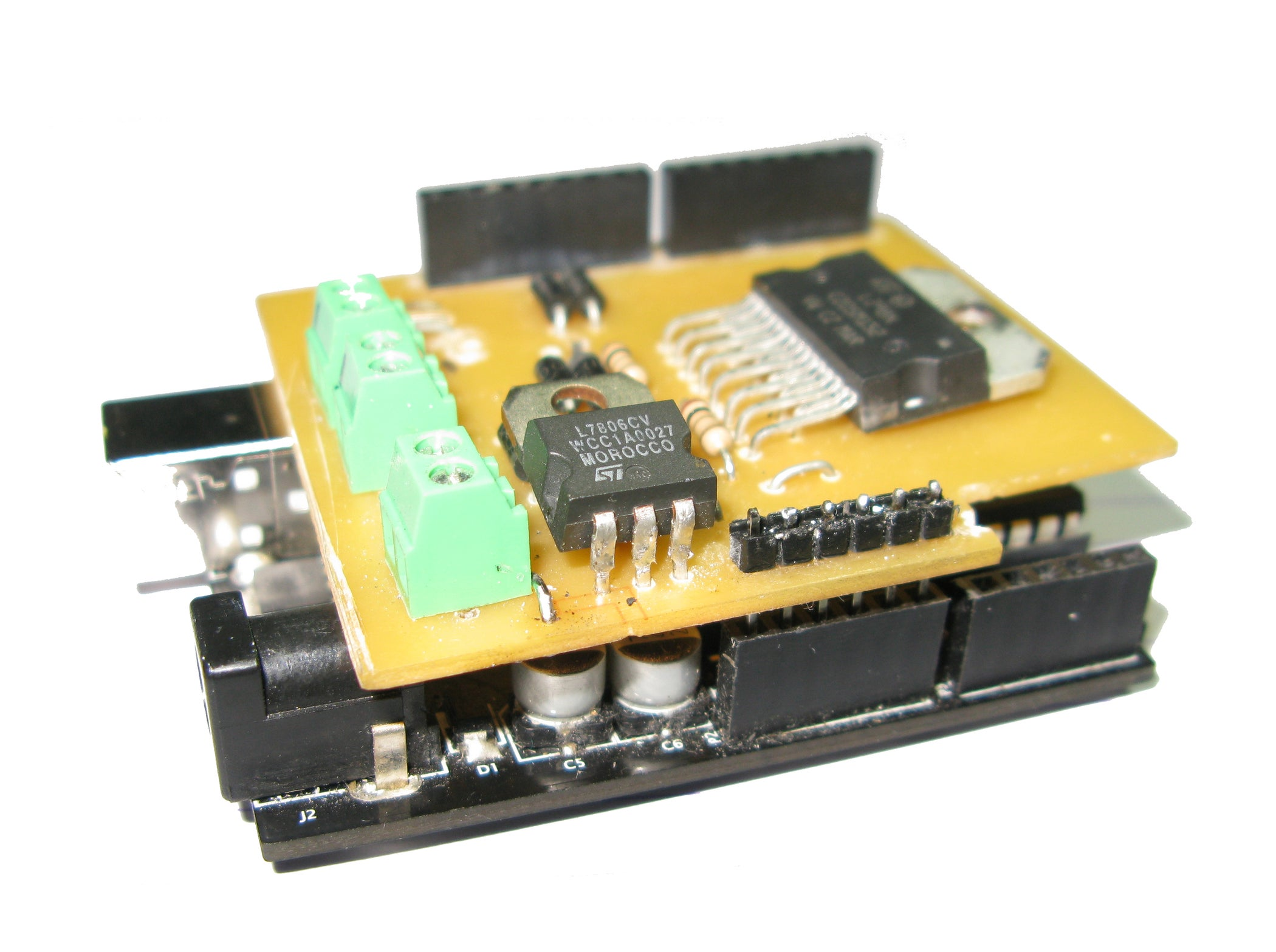 Diy Arduino Motor Shield L298n 2x4a 6 Steps With Pictures Pcb Do It Yourself Printed Circuit Boards