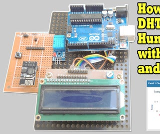 How to Upload DHT11 Temperature and Humidity Sensor Using ESP8266 to Thingspeak