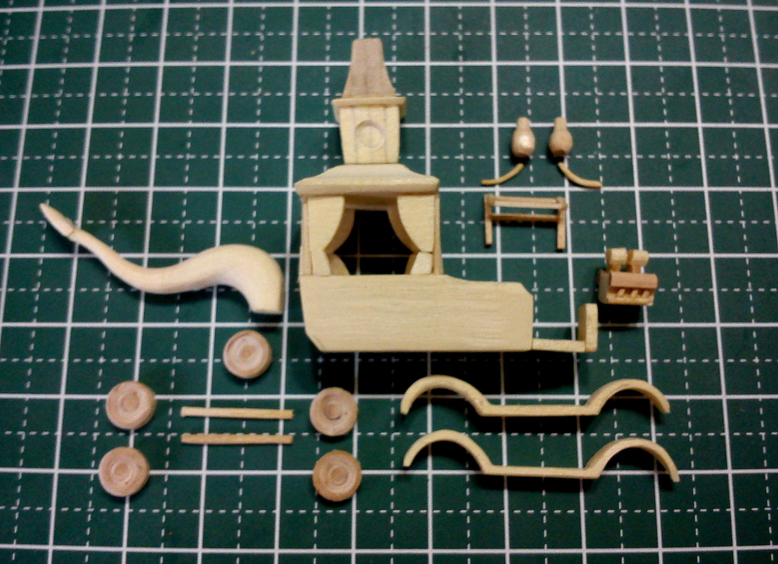 Picture of Mini Wacky Races No. 2 - Creepy Coupe Popsicle Stick Model