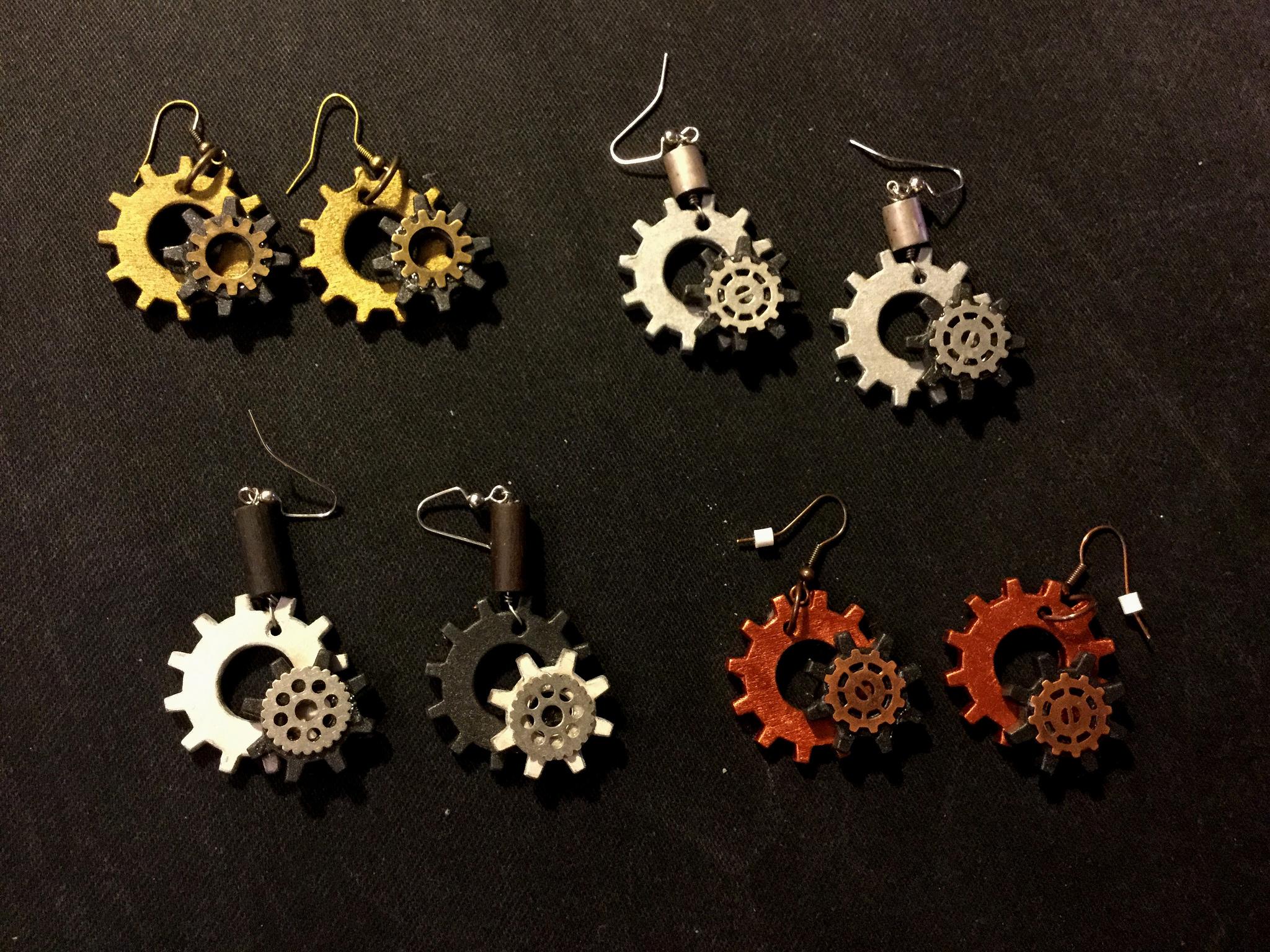 Picture of Steampunk Gear Earrings
