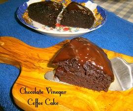 Moist Chocolate Vinegar Coffee Cake