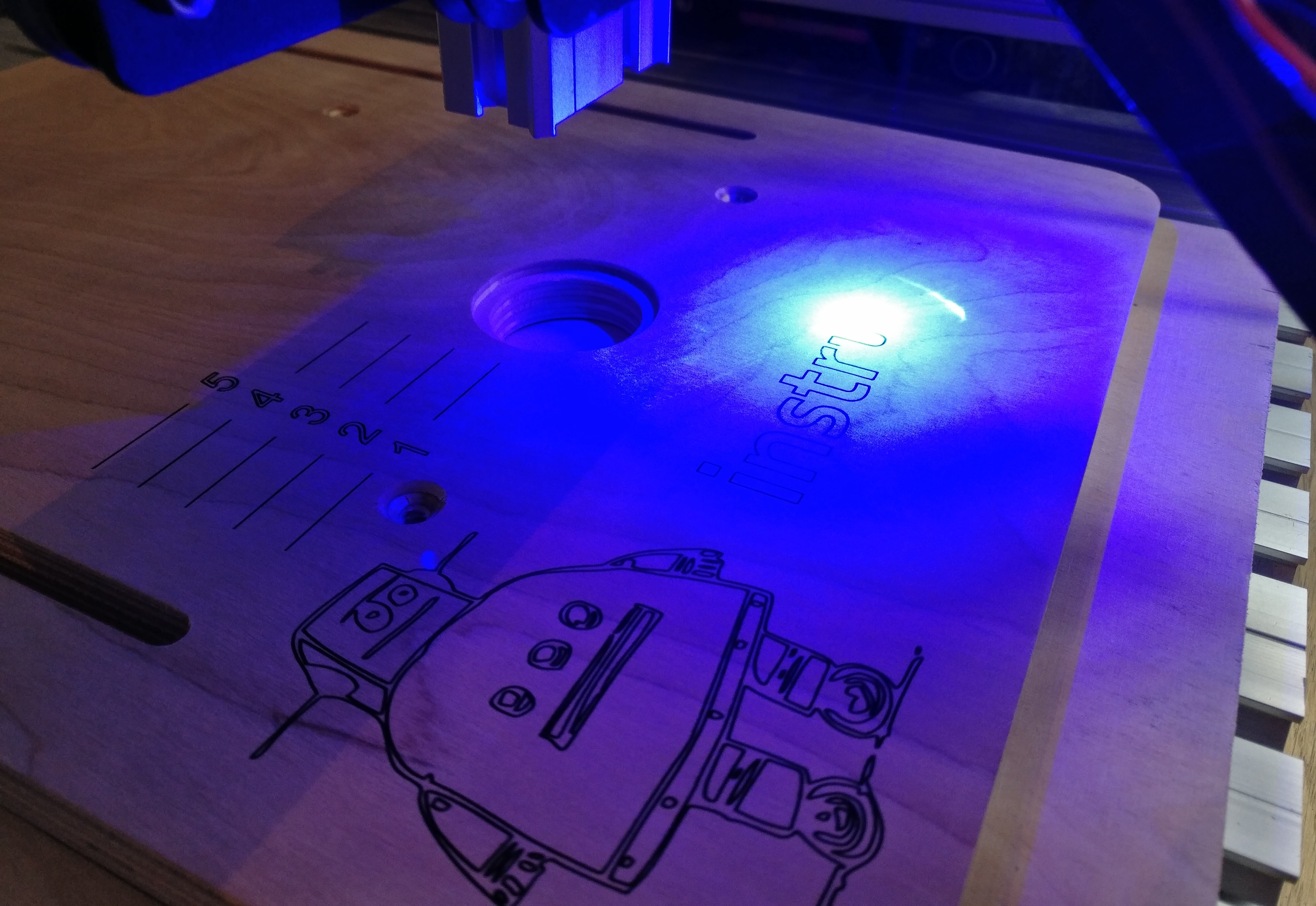 Picture of Laser Engraving the Table