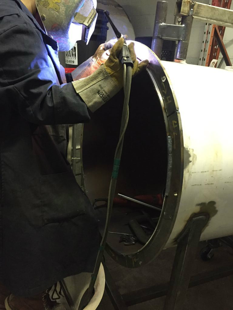 Picture of Attaching the Flanges