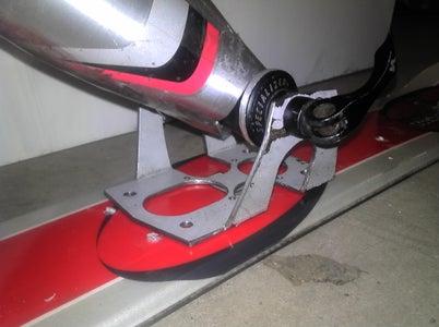 Shock, Foot Platforms, Rear Ski Bracket,