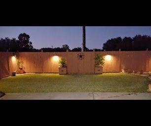 $4 DIY PVC Wall Sconce Lighting