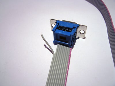 RS232 Connection Cable Using IDC Type Connector