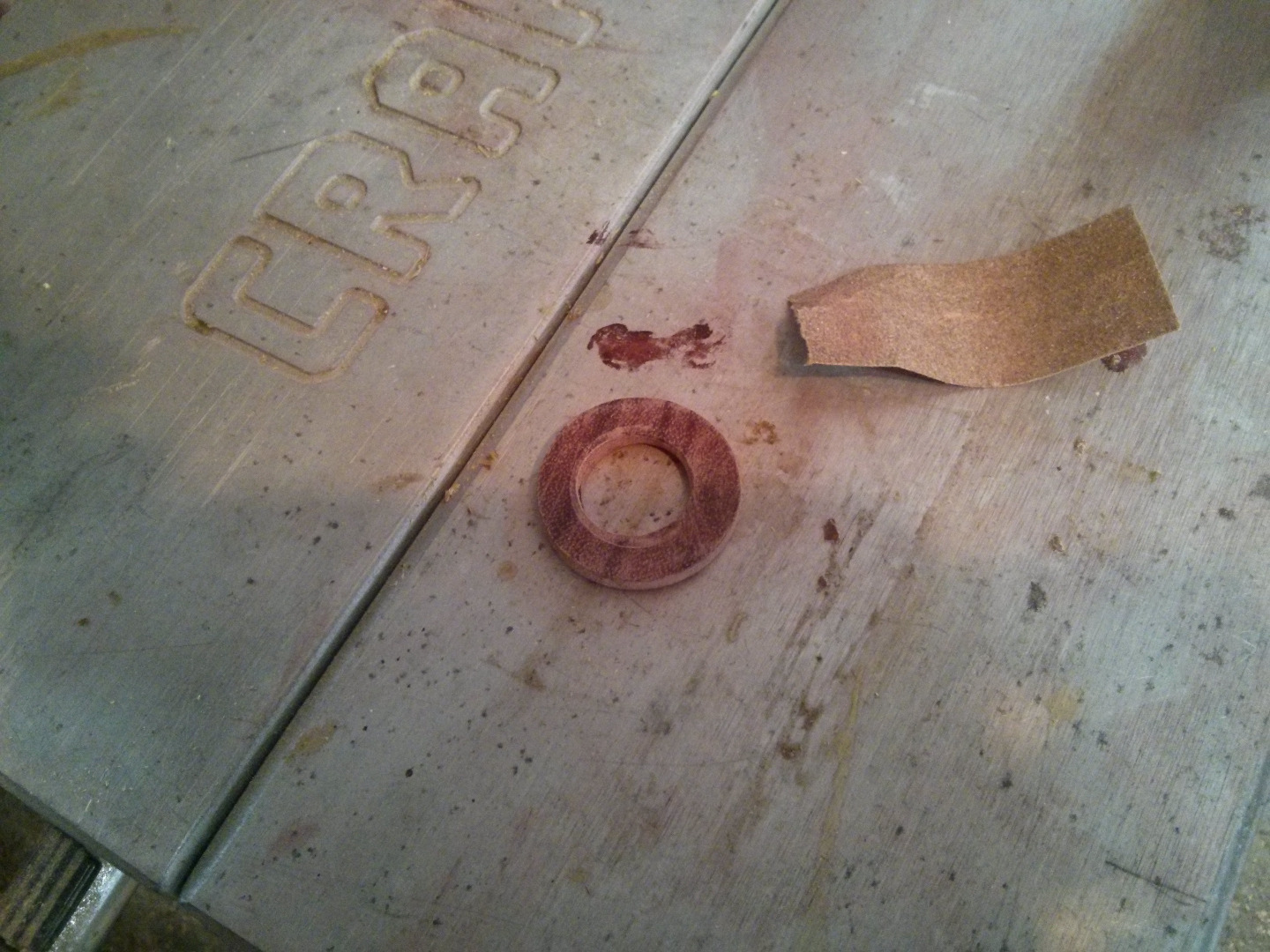 Picture of The Spacer Washer and Top Cap - Round Mallet